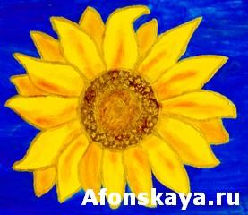 Sunflower, acrylic painting