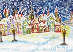 Winter in fairy town