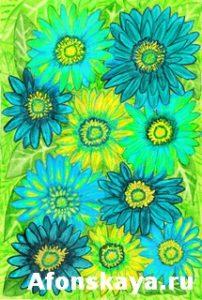 Green Gerbera flowers