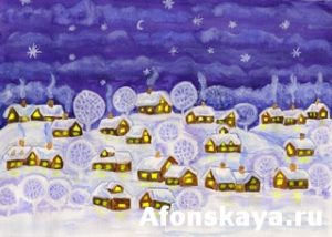 Winter night, painting