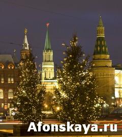Moscow, Kremlin at Christmas