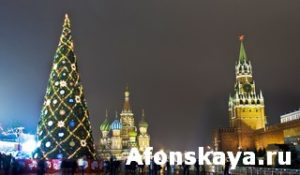 Moscow, Russia - December 14, 2011: Christmas tree on Red square