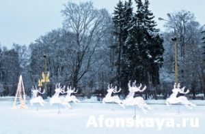 Electric deers, Moscow, Christmas