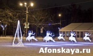 Electirc deers, Christmas, Moscow