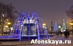 Electric fountain, Moscow
