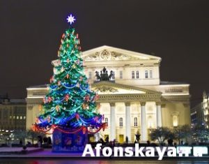 Moscow, Christmas tree and Big theatre
