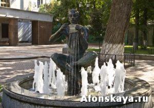 Москва сад Аквариум фонтан Сатир