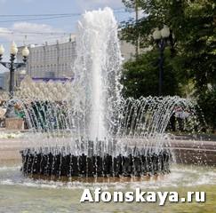 Москва Пушкинская площадь фонтан