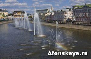 Москва Водоотводный канал фонтан