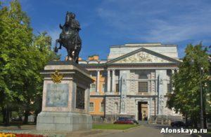 Михайловский Инженерный замок, памятник Петру Первому, Санкт-Петербург
