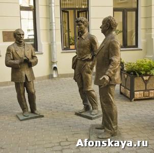 памятник драматургам Розову, Вампилову, Володину Москва