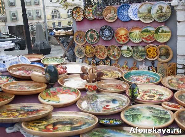 киев украина сувениры расписные деревянные тарелки
