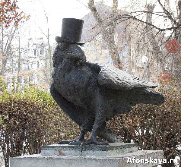 памятник киевской интеллигенции мудрый ворон киев