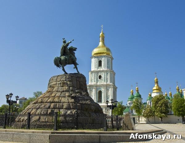 киев софийский собор памятник богдану хмельницкому
